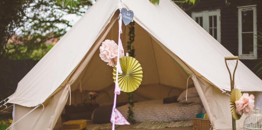 Honeymoon Suite Bell Tent. Image www.ryanbaldwinphotography.com